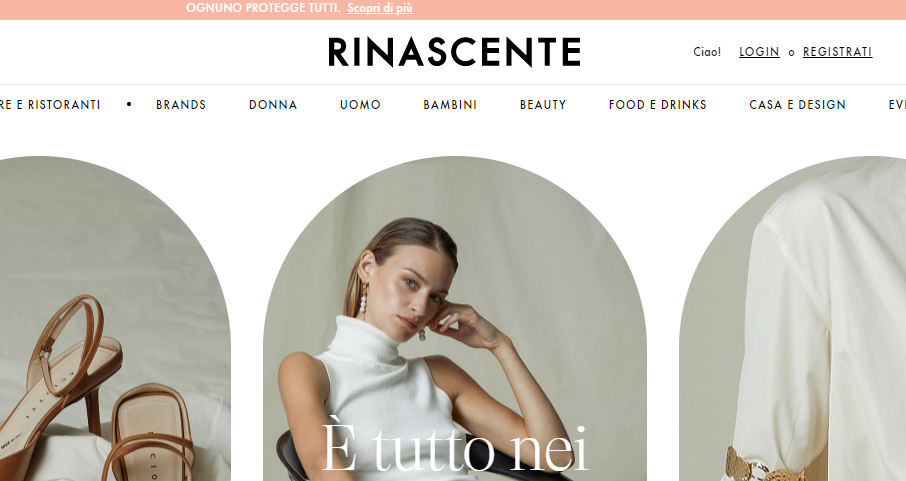E-commerce: Italian department store Rinascente launches first online store