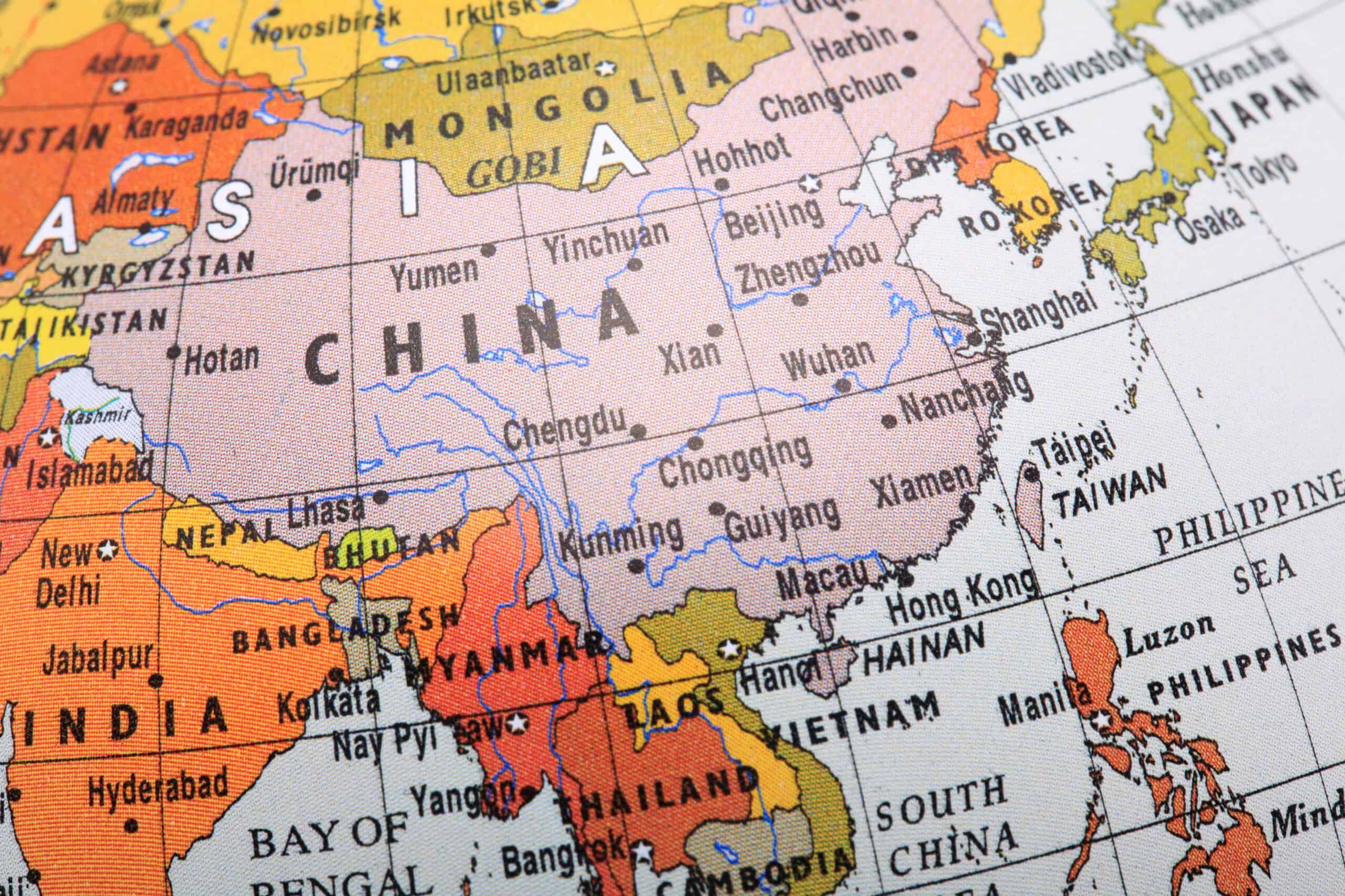 Image of a globe focusing on Southeast Asia, specifically China, the home of Chinese sellers