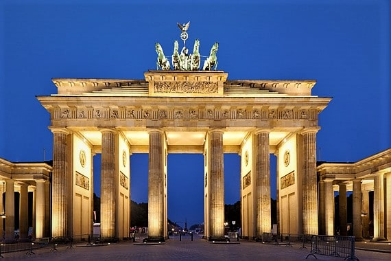 a picture of the big gate in Berlin, Germany. You should register for VAT in Germany